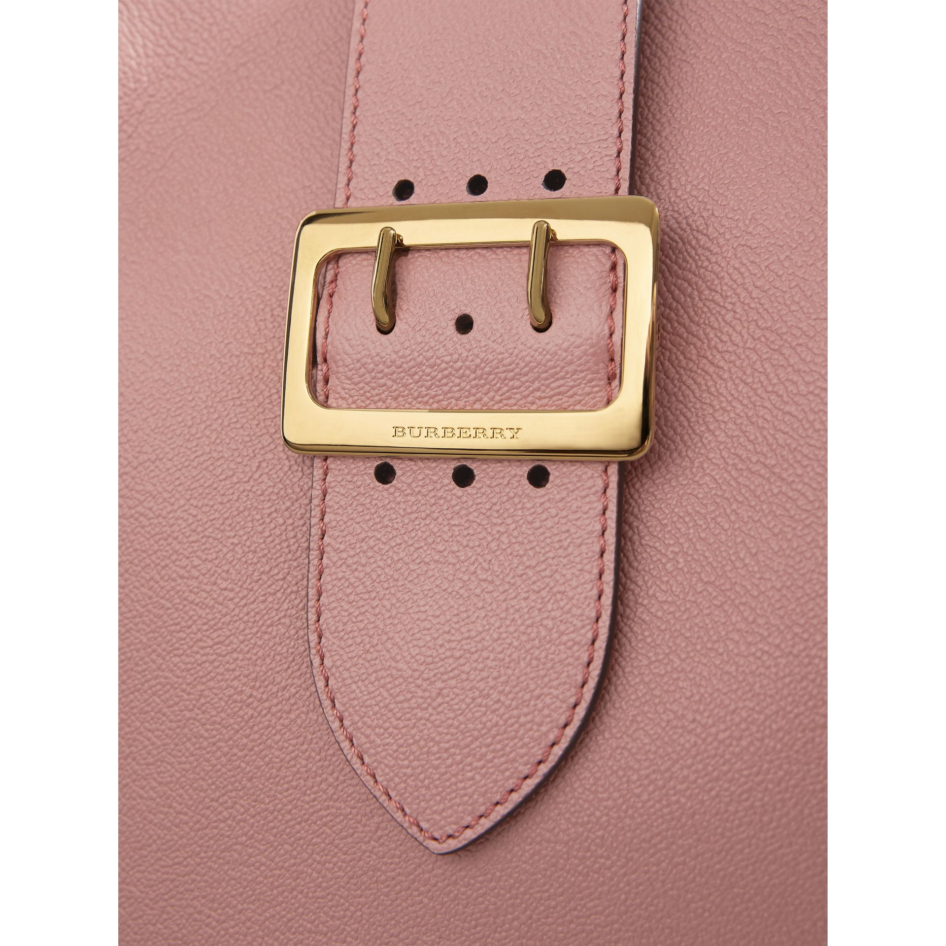 The Medium Buckle Tote in Grainy Leather in Dusty Pink - Women | Burberry - gallery image 2