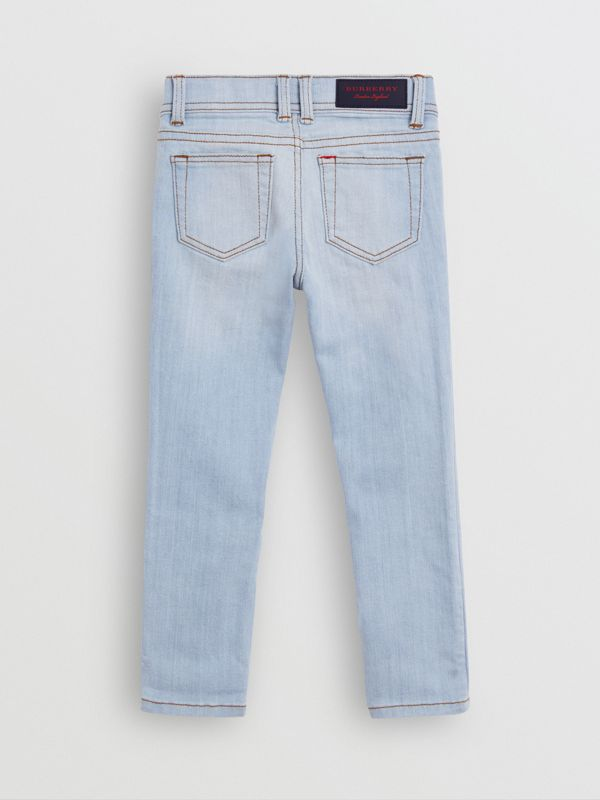 Skinny Fit Stretch Jeans in Light Blue - Girl | Burberry United States - cell image 3