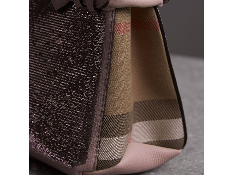 The Baby Banner in Sequins, Check and Leather in Pale Orchid - Women | Burberry Singapore - cell image 1