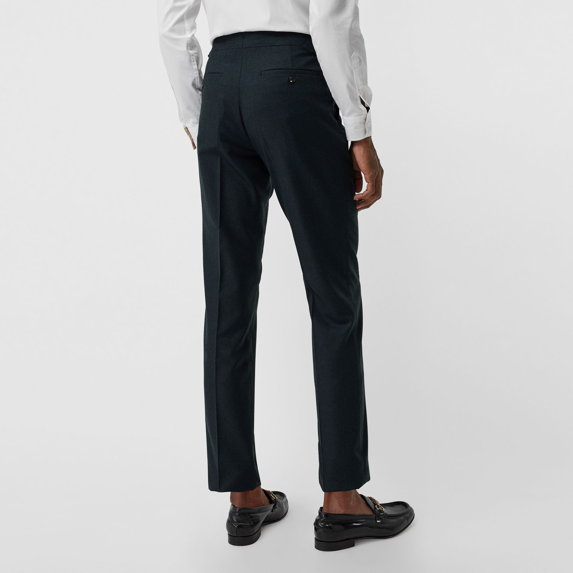 Classic Fit Wool Cashmere Tailored Trousers in Blue - Men | Burberry United Kingdom - gallery image 2