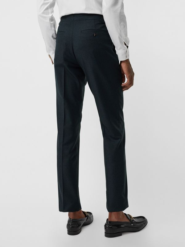 Classic Fit Wool Cashmere Tailored Trousers in Blue - Men | Burberry United Kingdom - cell image 2