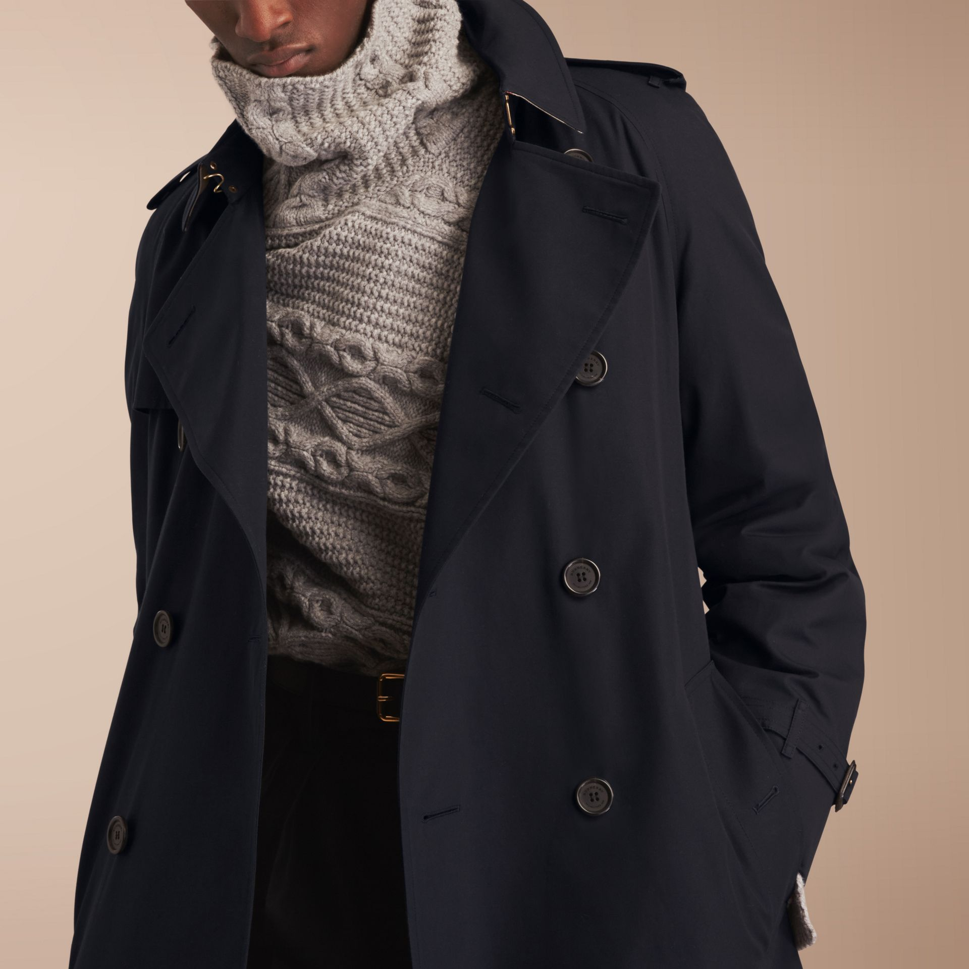 The Westminster – Long Heritage Trench Coat Navy - gallery image 5