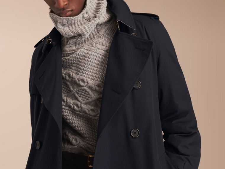 The Westminster – Long Heritage Trench Coat in Navy - Men | Burberry - cell image 4