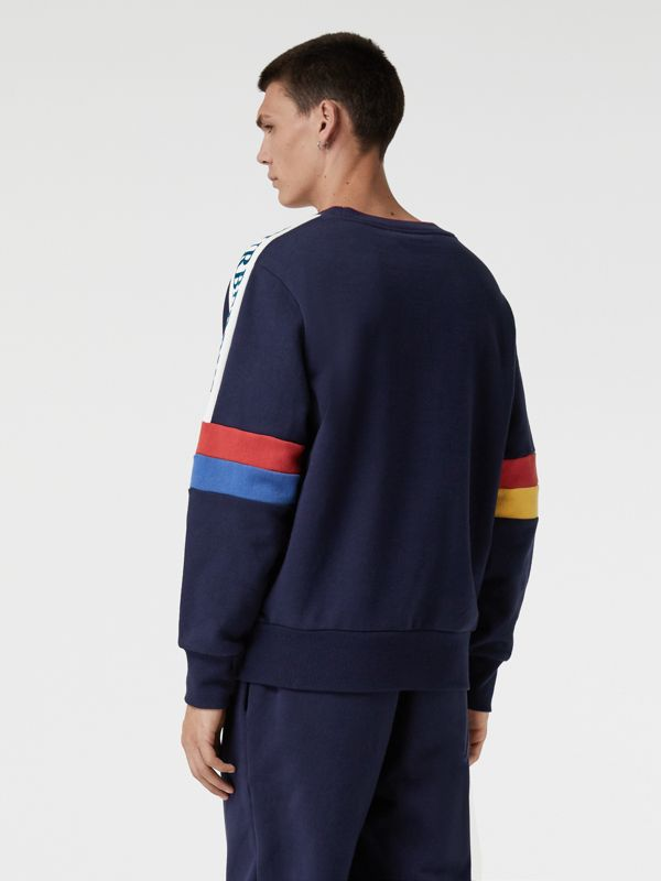 Colour Block Embroidered Archive Logo Sweatshirt in True Navy - Men | Burberry Canada - cell image 2
