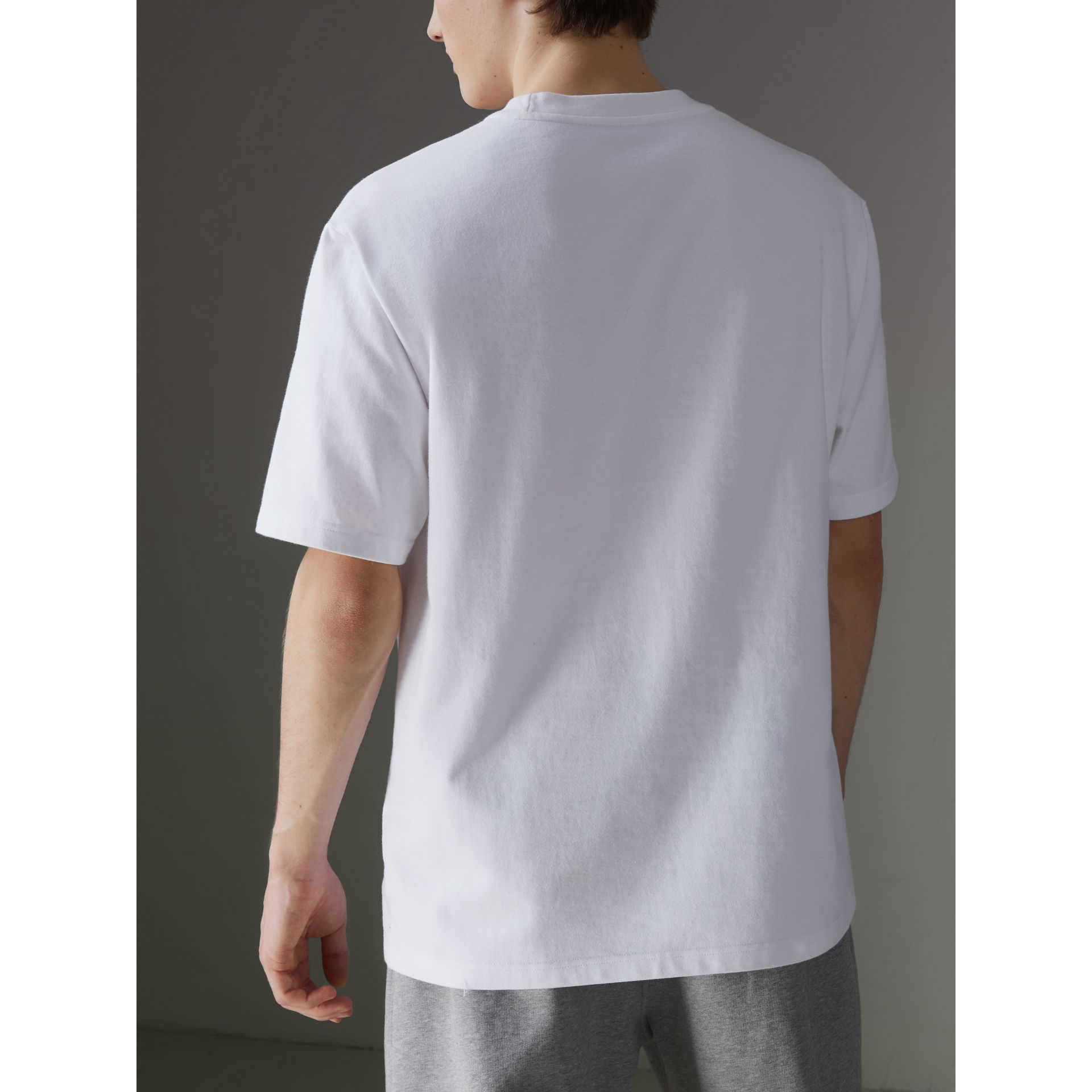 Reissued Cotton T-shirt in White - Men | Burberry United States - gallery image 2
