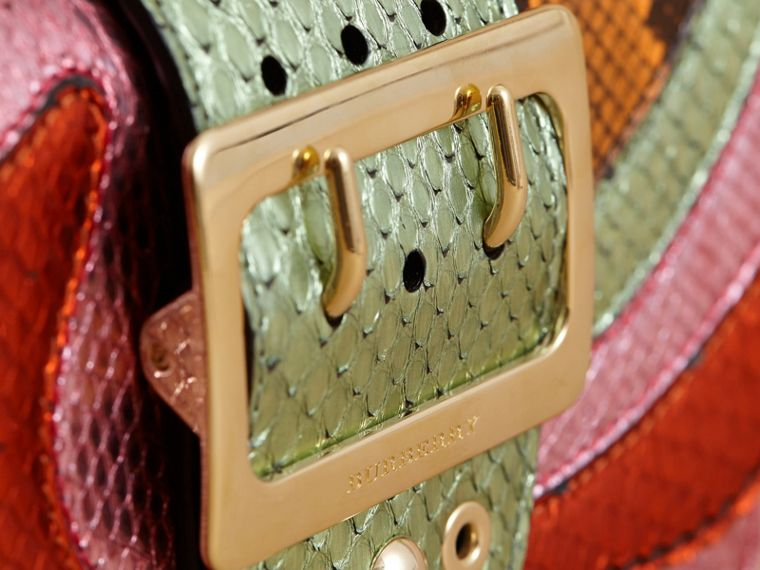 The Small Buckle Bag in House Check and Snakeskin - cell image 1