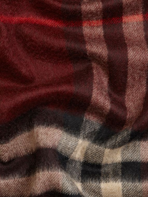 Claret check The Classic Cashmere Scarf in Check Claret - cell image 3
