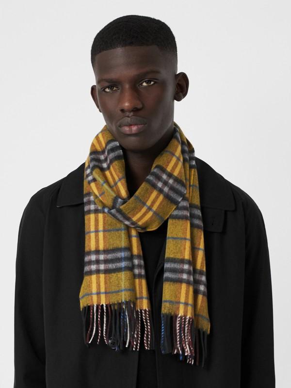 格紋喀什米爾圍巾 (琥珀黃) | Burberry - cell image 3