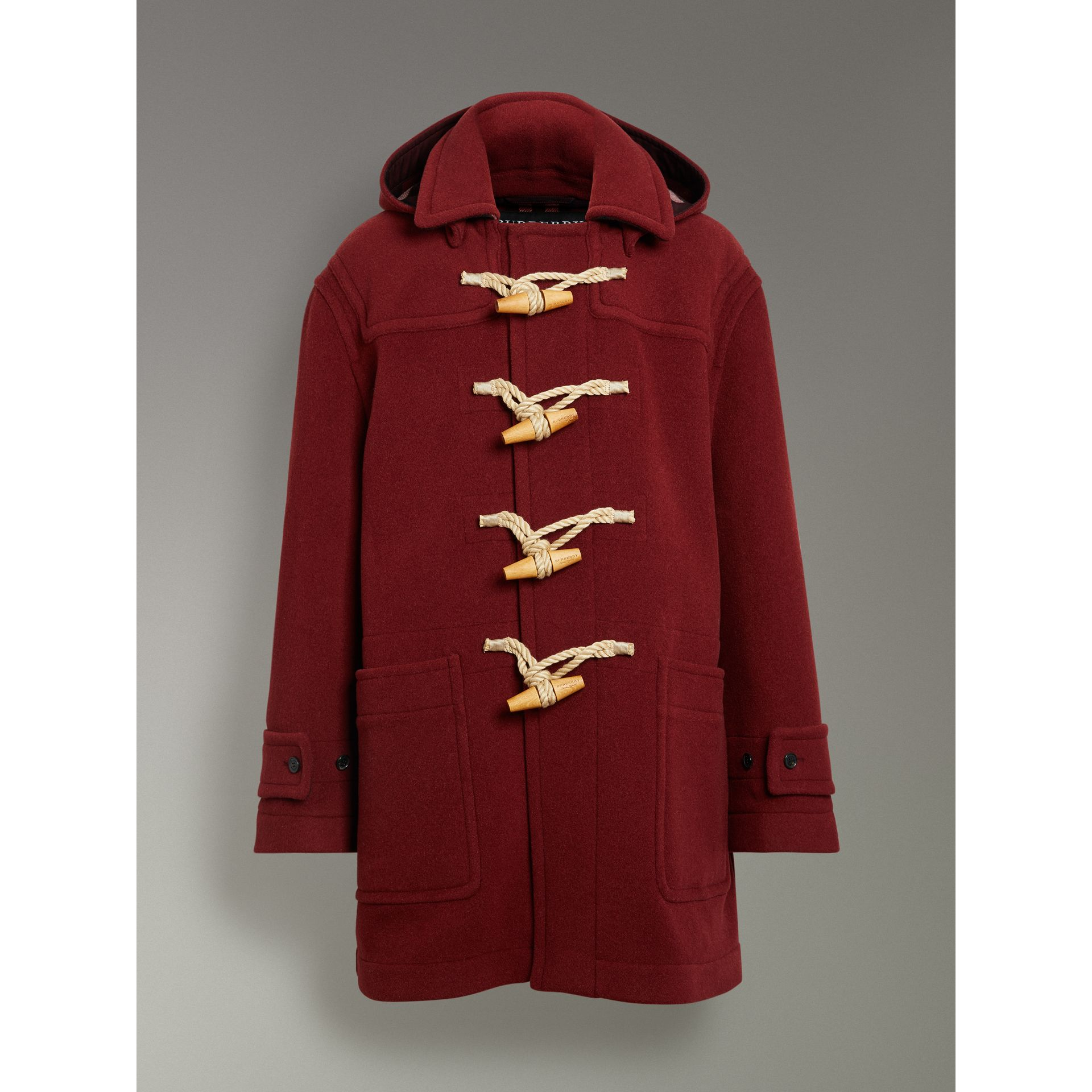 Duffle-coat oversize Gosha x Burberry (Bordeaux) | Burberry Canada - photo de la galerie 3