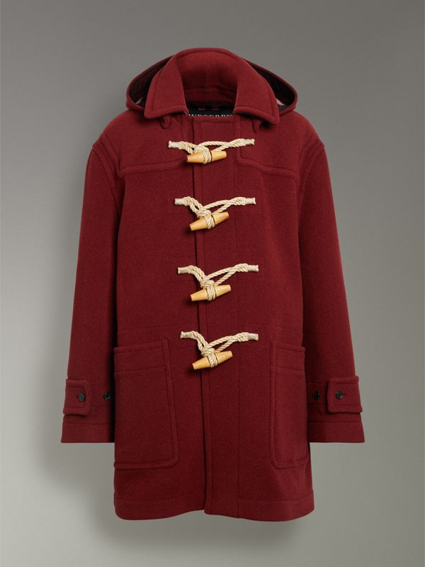 Gosha x Burberry Oversized Duffle Coat in Claret | Burberry - cell image 3