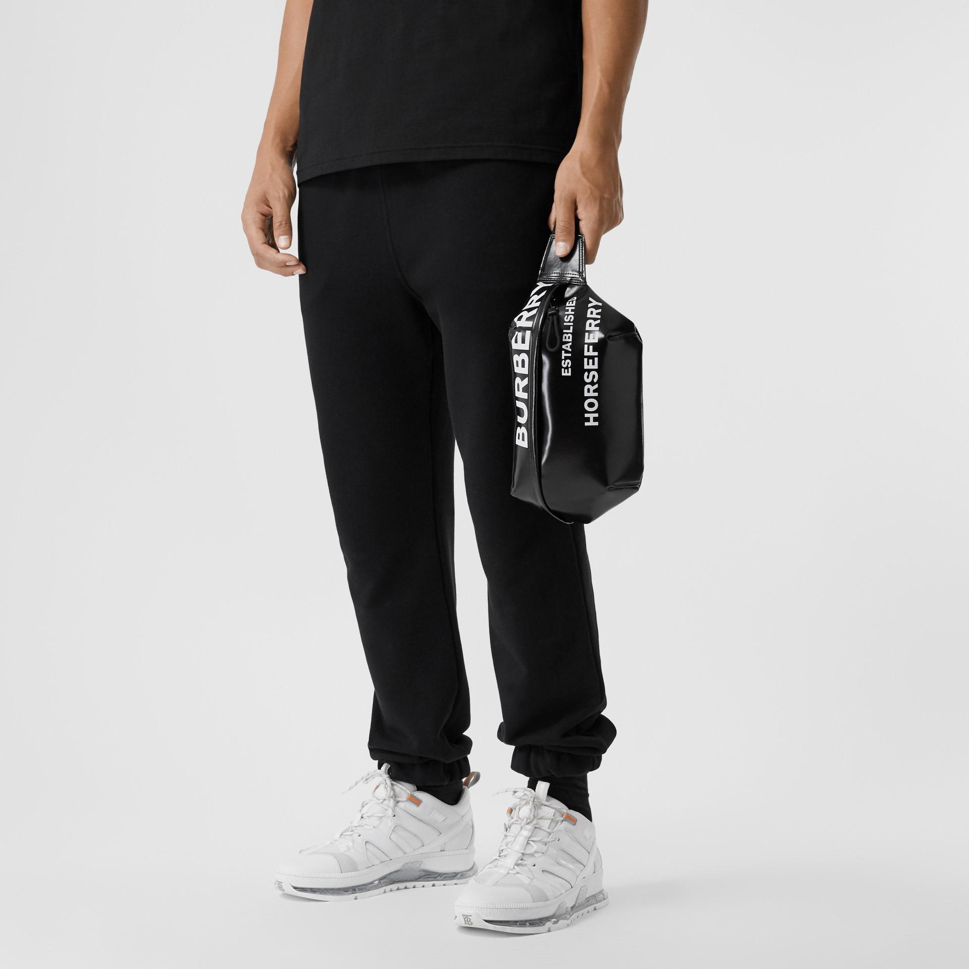 Medium Horseferry Print Bum Bag in Black | Burberry United Kingdom - gallery image 3