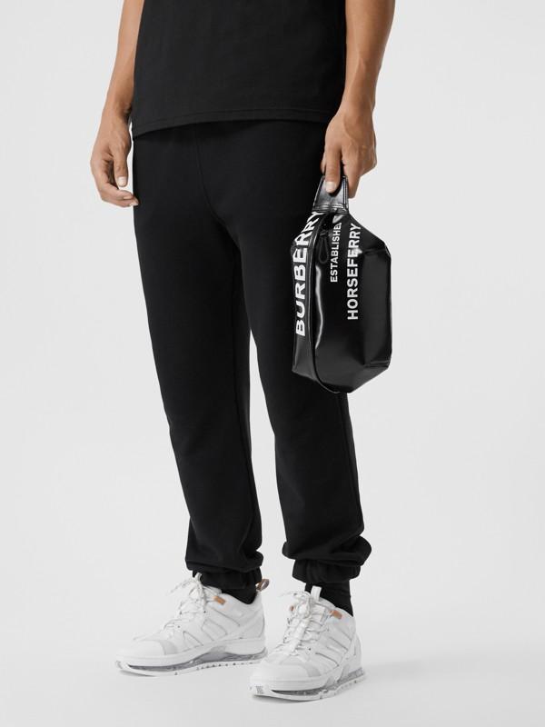 Medium Horseferry Print Bum Bag in Black | Burberry Australia - cell image 3