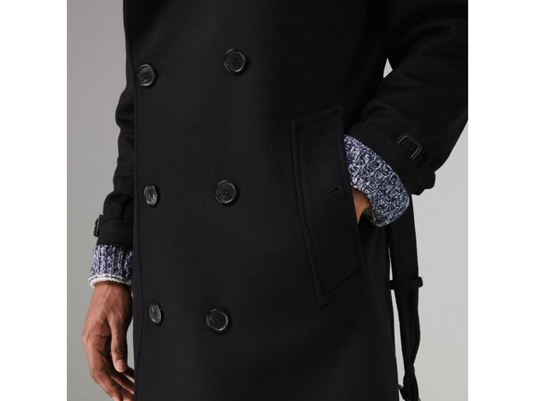 Trench coat in lana e cashmere (Nero) - Uomo | Burberry - cell image 1