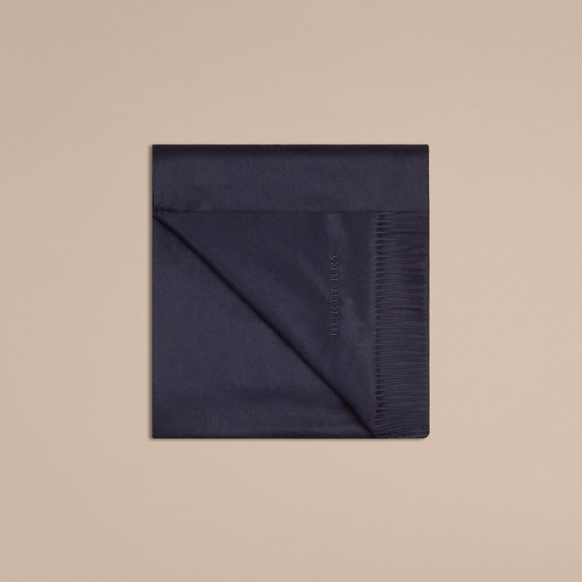 Indigo blue Cashmere Blanket Indigo Blue - gallery image 4