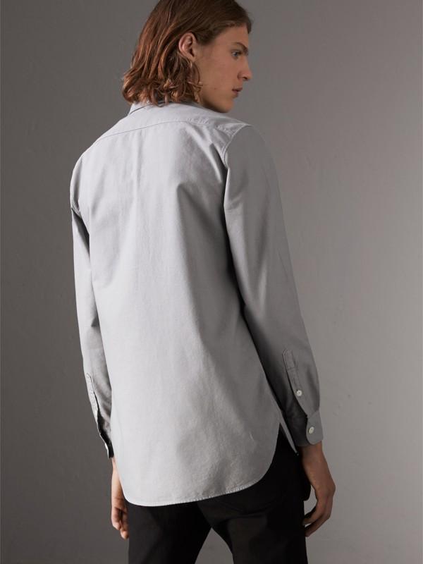 Camisa Oxford de algodão (Cinza Claro) - Homens | Burberry - cell image 2