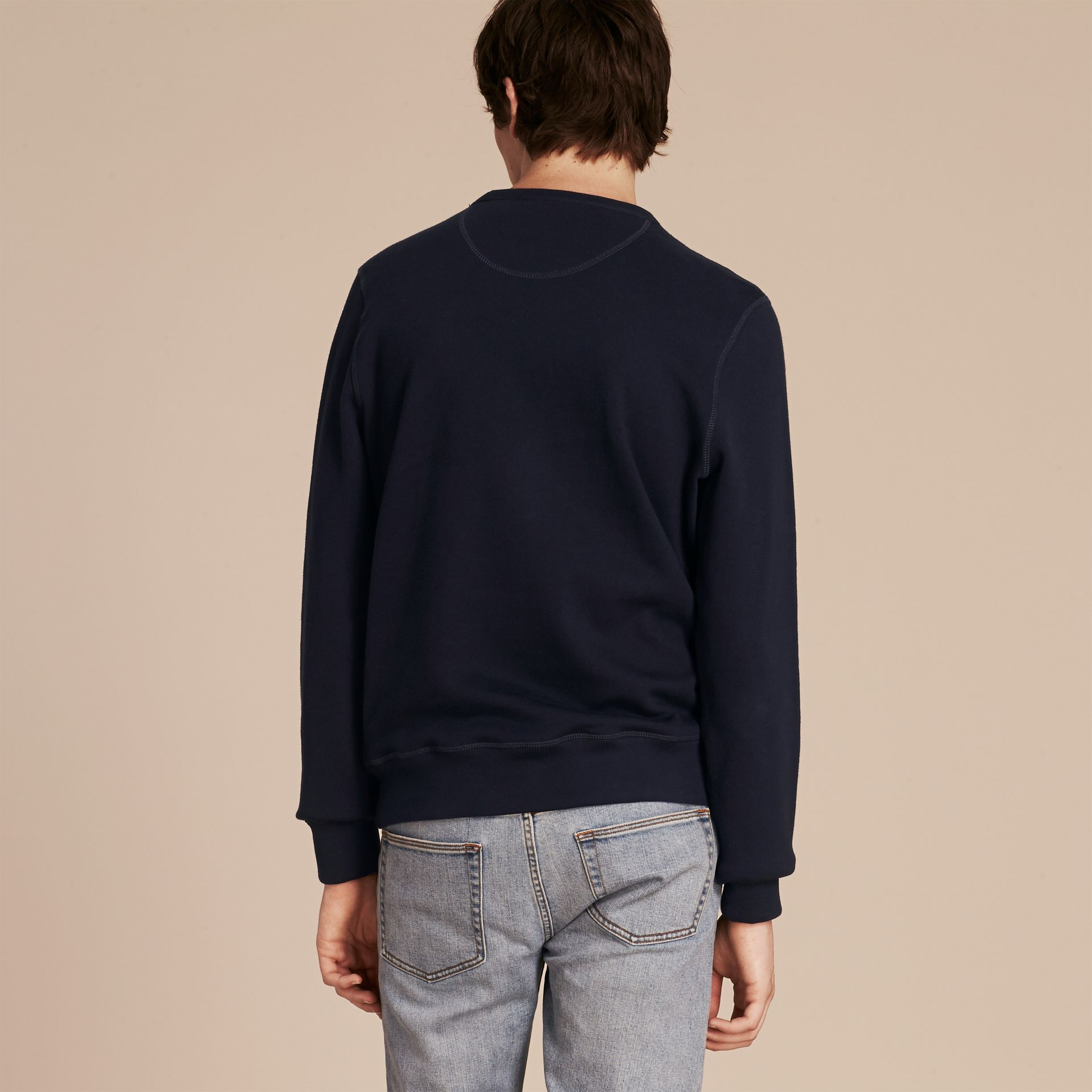 Equestrian Knight Device Cotton Blend Sweatshirt - Men | Burberry - gallery image 3