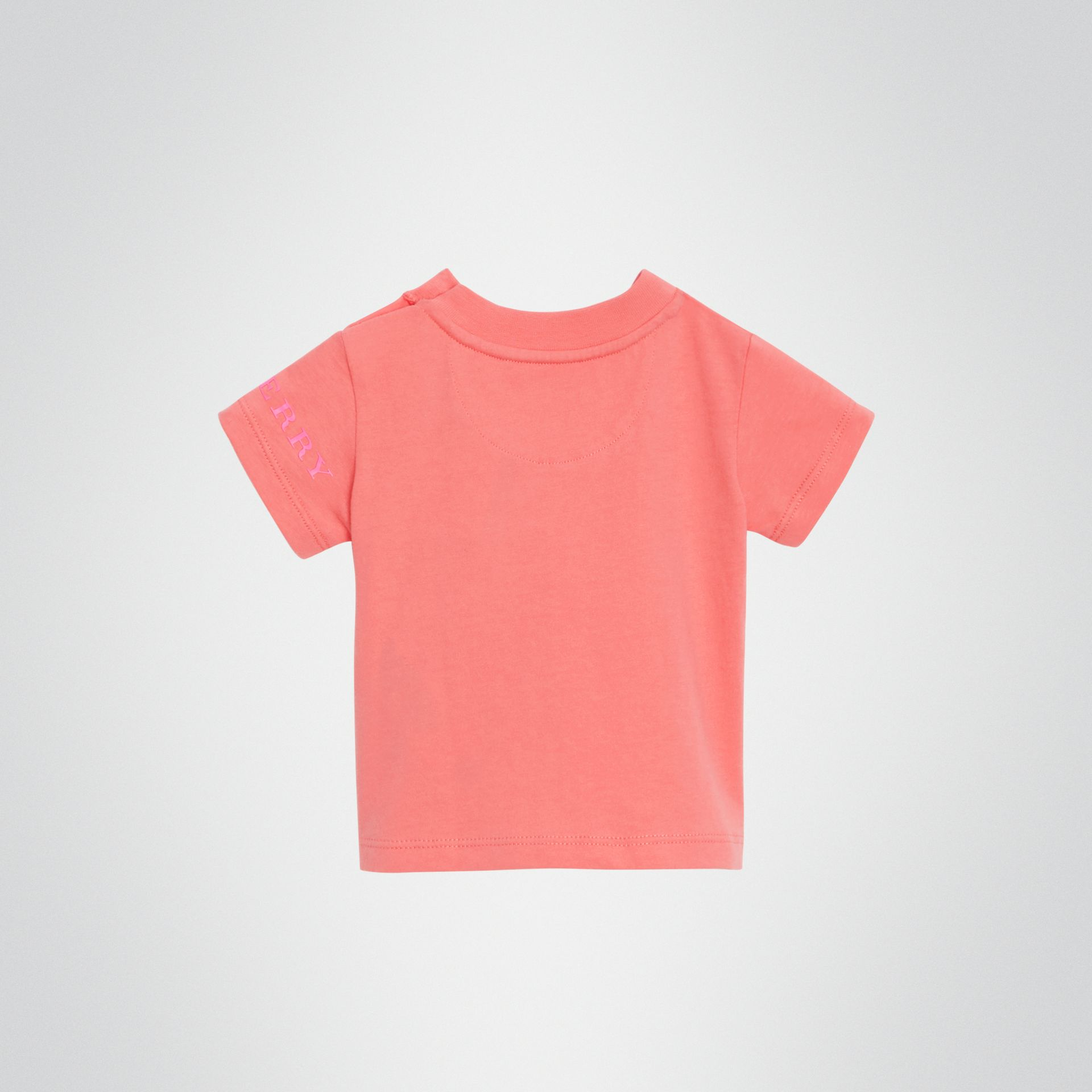 T-shirt en coton avec logo imprimé (Rose Vif) - Enfant | Burberry - photo de la galerie 3