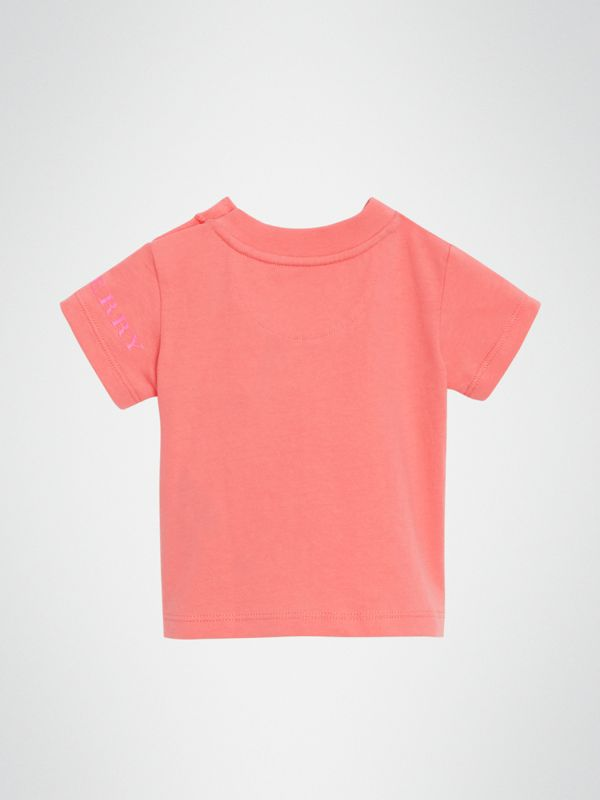 T-shirt in cotone con logo (Rosa Intenso) - Bambino | Burberry - cell image 3
