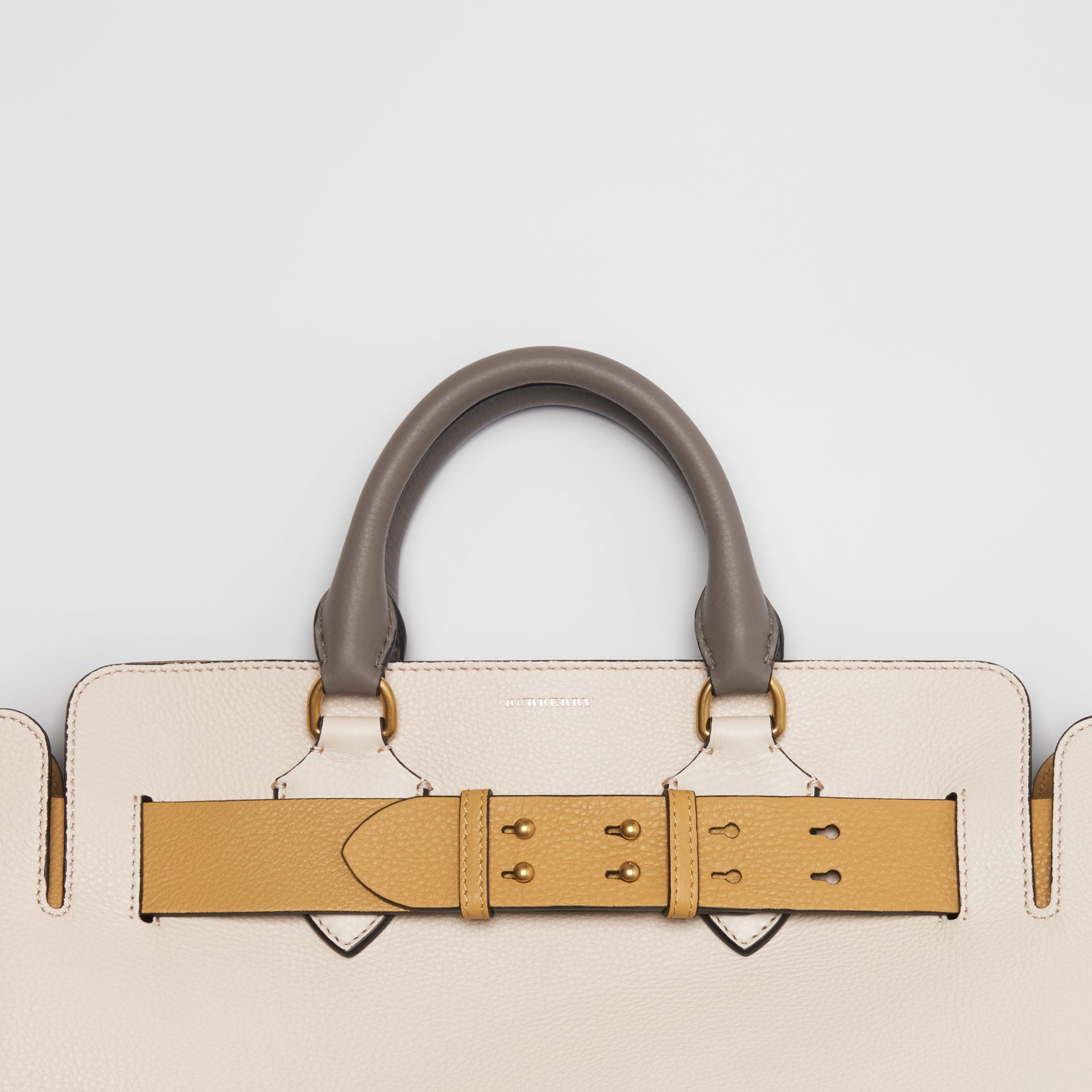 The Medium Tri-tone Leather Belt Bag in Limestone / Cornflower Yellow - Women | Burberry - gallery image 1
