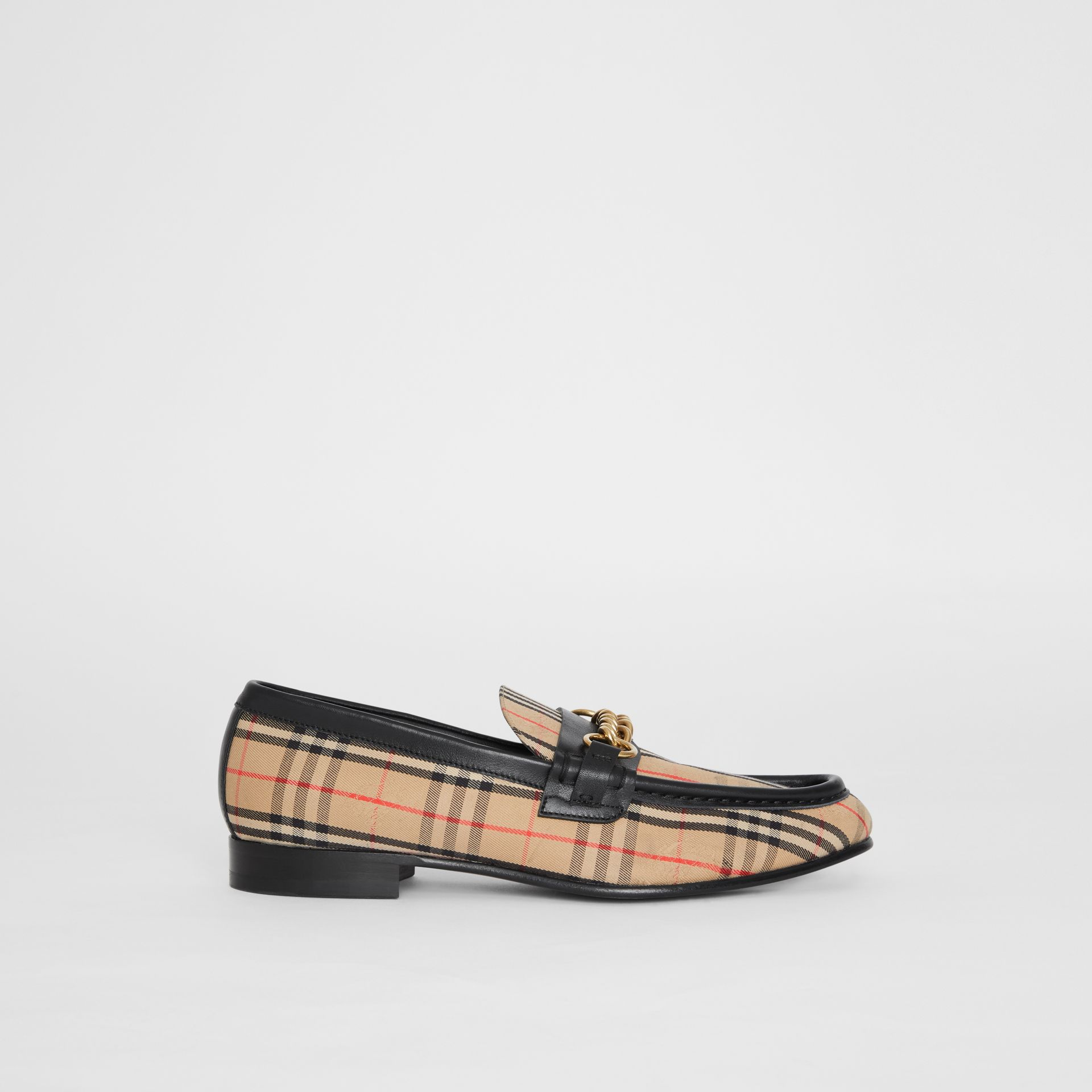 The 1983 Check Link Loafer in Black - Women | Burberry - gallery image 4