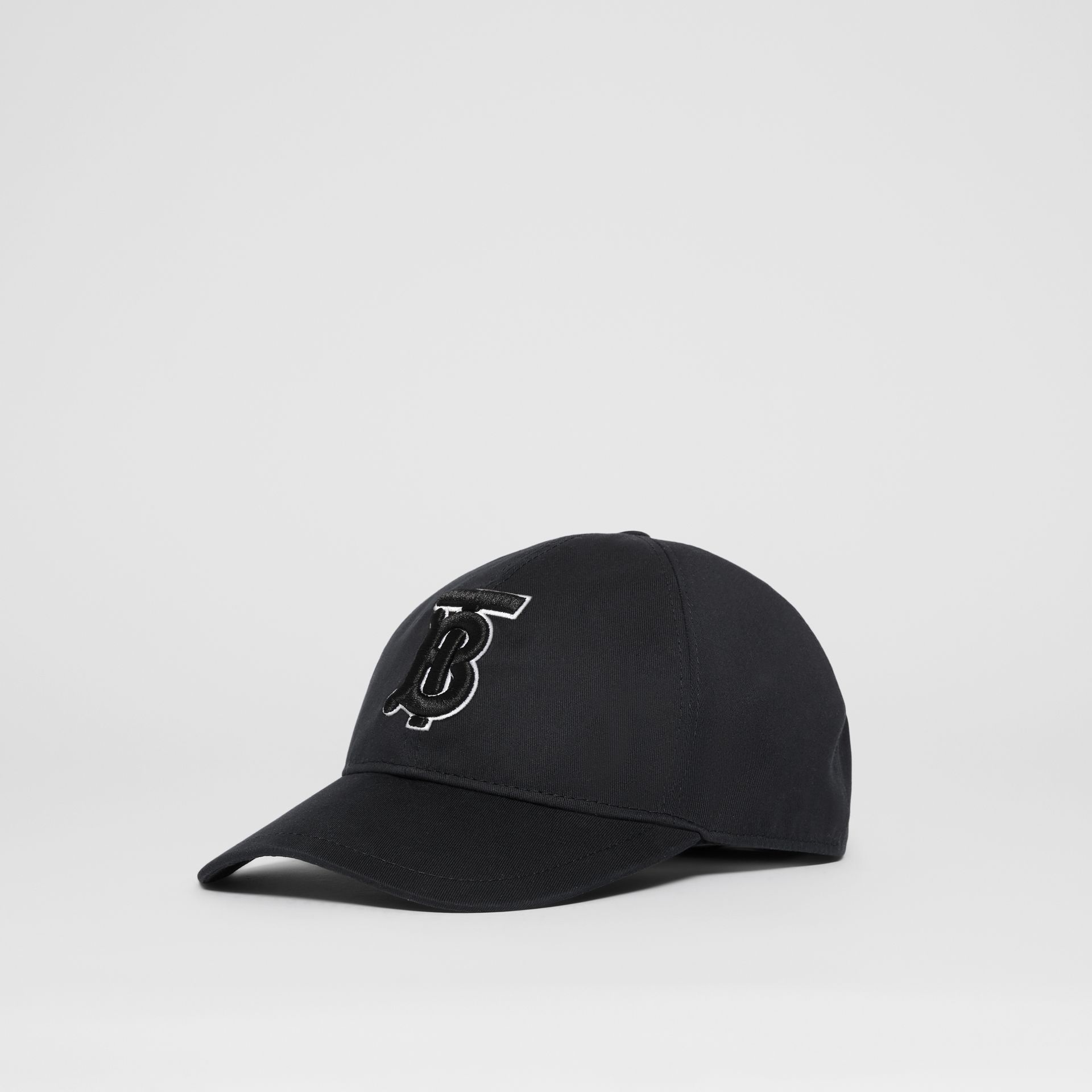 Monogram Motif Baseball Cap in Black / Black | Burberry - gallery image 5
