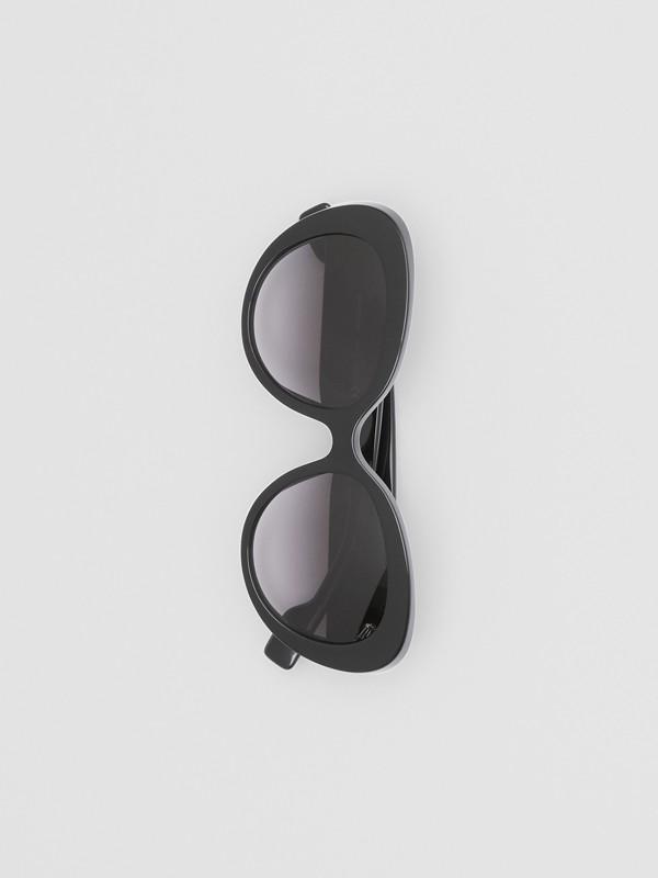 Monogram Motif Cat-eye Frame Sunglasses in Black - Women | Burberry United Kingdom - cell image 3