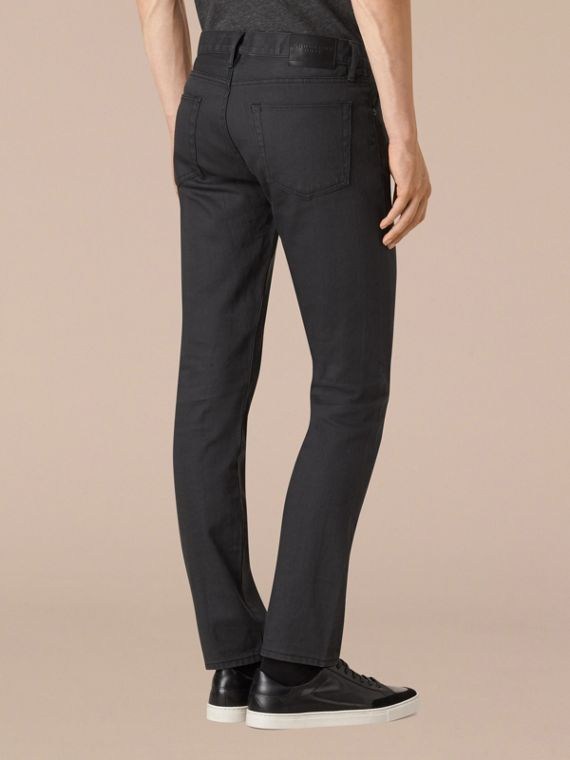 Storm grey Slim Fit Japanese Selvedge Jeans - cell image 2