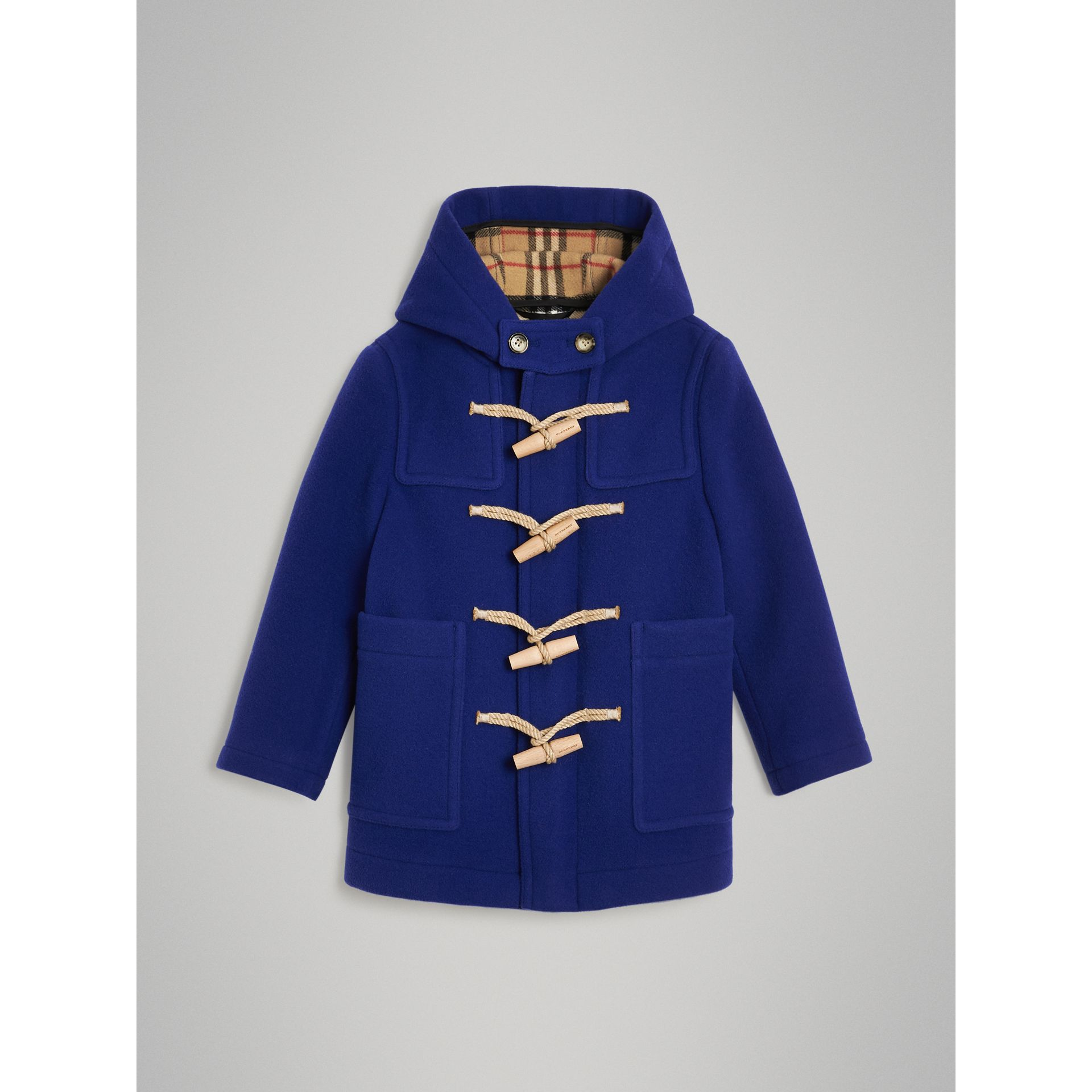 Double-faced Wool Duffle Coat in Brilliant Blue | Burberry Singapore - gallery image 0