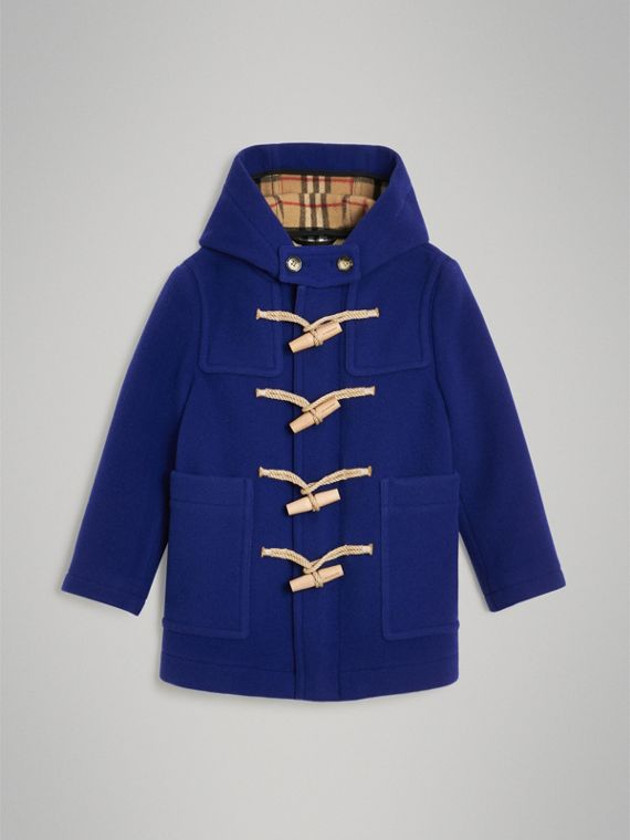 Duffle-coat en laine double face (Marine Brillant)