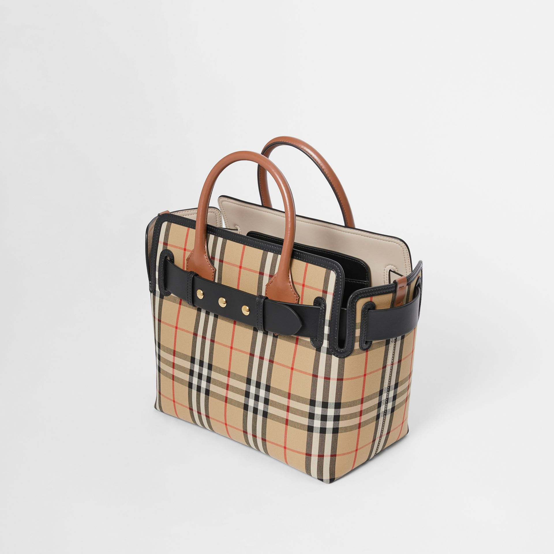 The Small Belt Bag mit Vintage Check-Muster und drei Ziernieten (Vintage-beige) - Damen | Burberry - Galerie-Bild 3