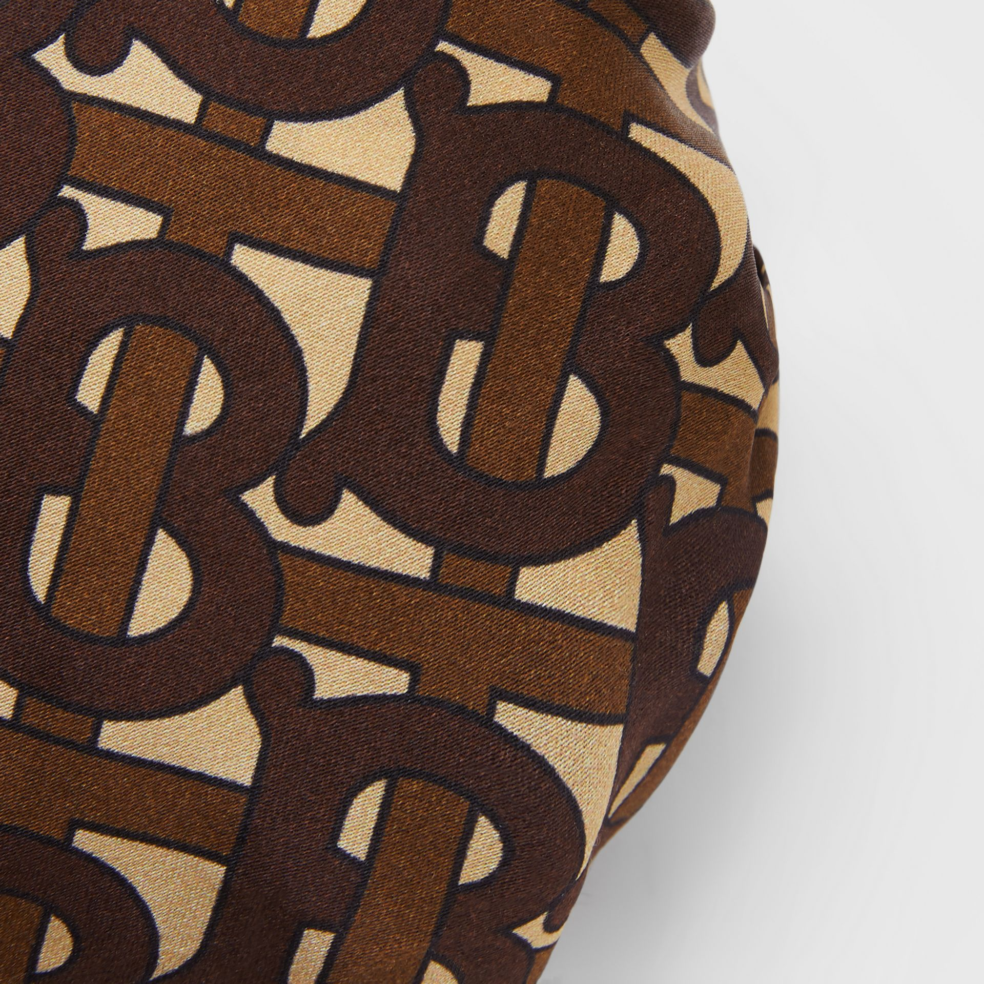 Monogram Print Silk Chignon Cover in Brown - Women | Burberry - gallery image 1