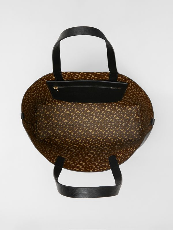 Embossed Monogram Motif Leather Tote in Black - Women | Burberry - cell image 3