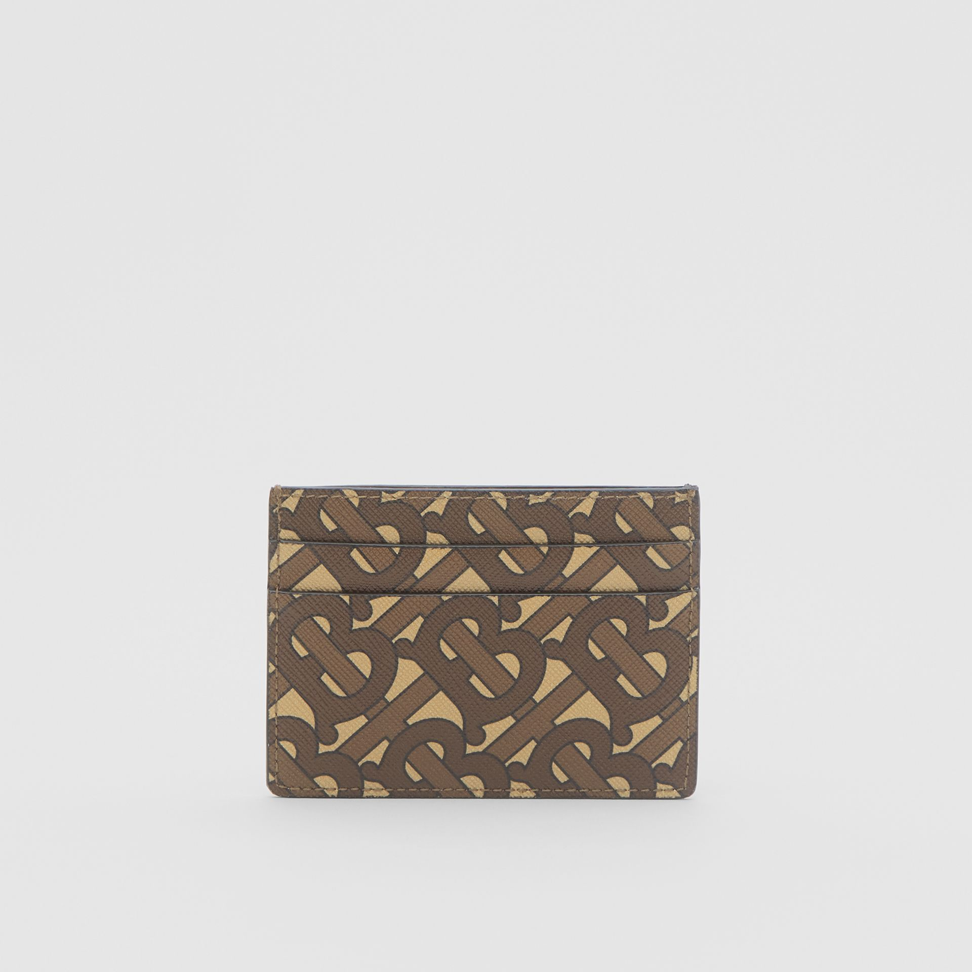 Monogram Print E-canvas Card Case in Bridle Brown | Burberry United Kingdom - gallery image 4