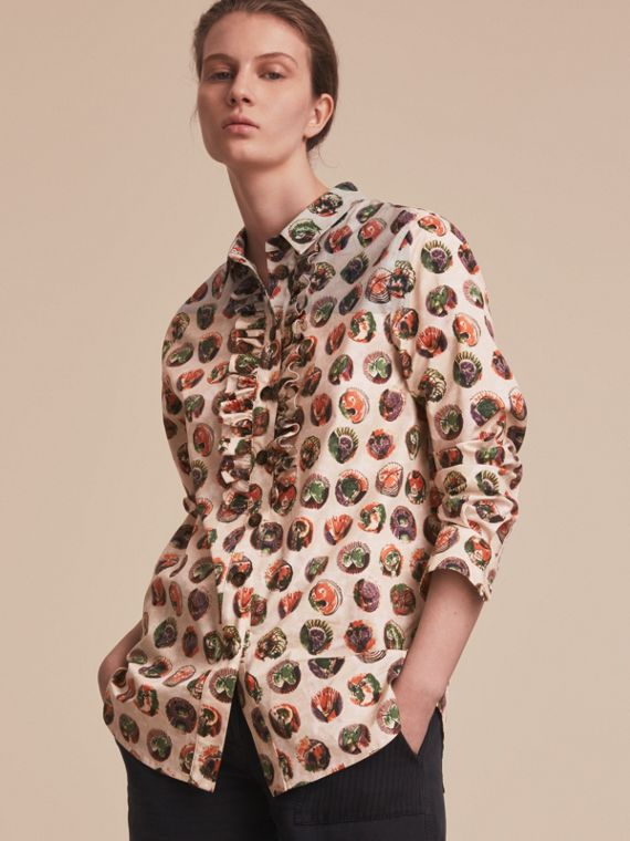 Pallas Heads Print Cotton Shirt