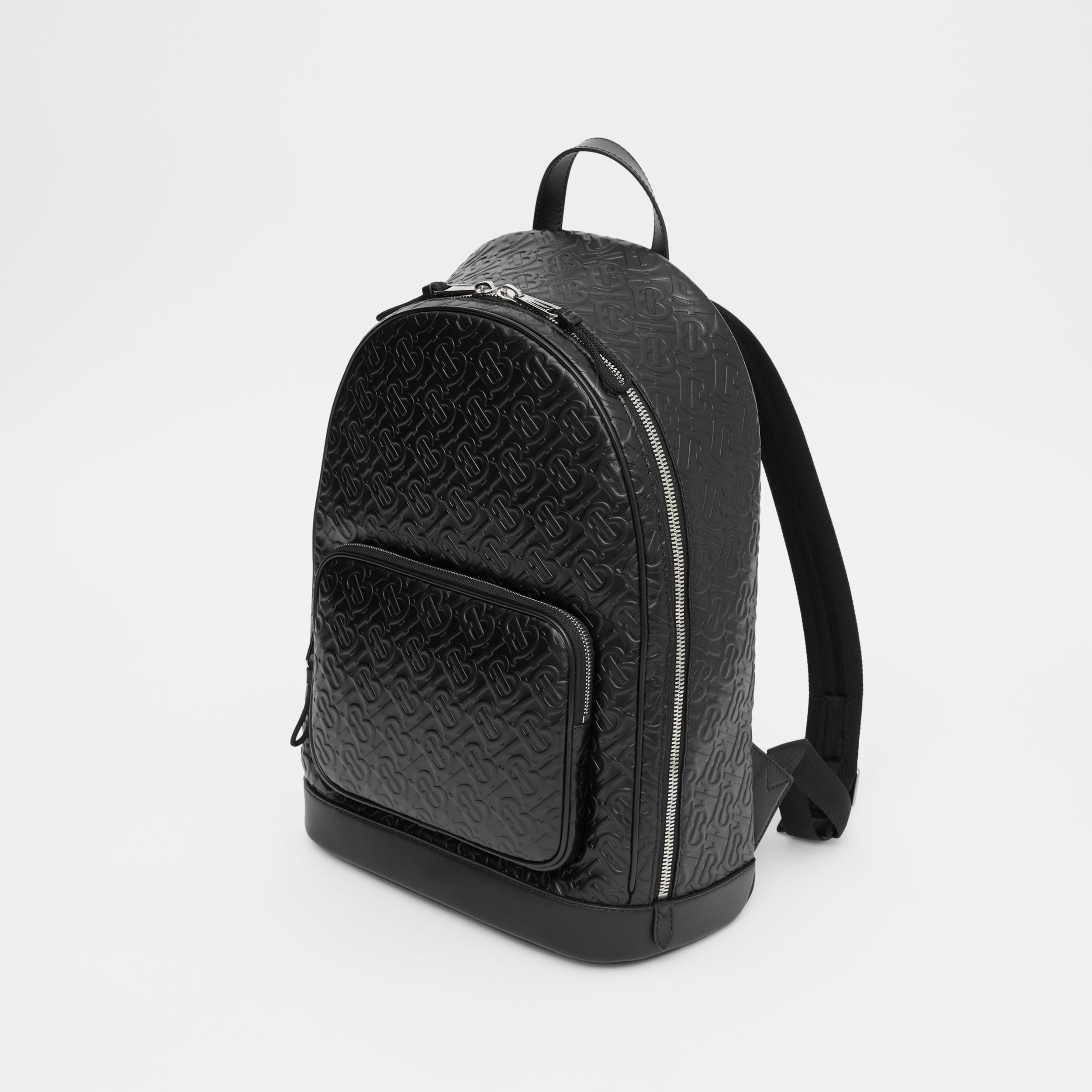 Monogram Leather Backpack in Black - Men | Burberry Canada - 4