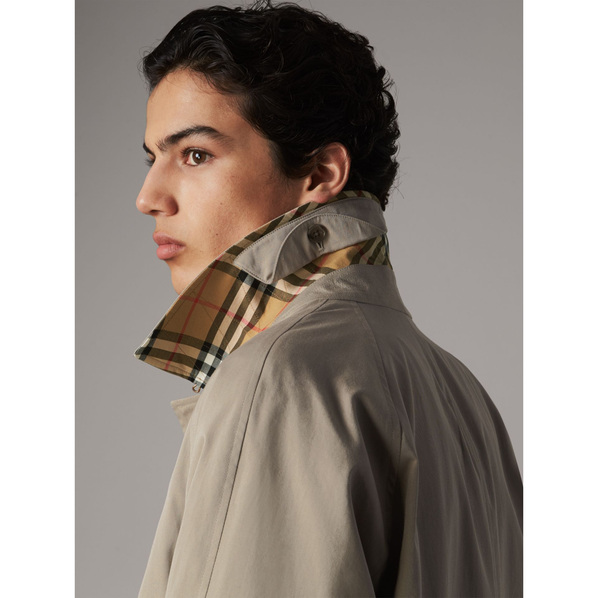 The Camden – Long Car Coat in Sandstone - Men | Burberry - gallery image 1