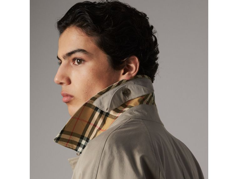 The Camden – Long Car Coat in Sandstone - Men | Burberry - cell image 1