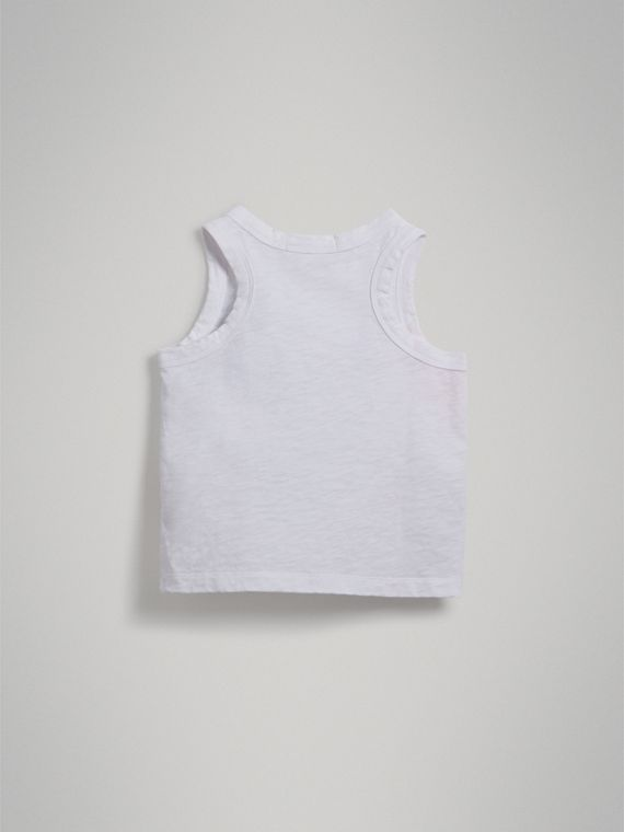 Postcard Print Cotton Jersey Vest in White - Girl | Burberry Singapore - cell image 3