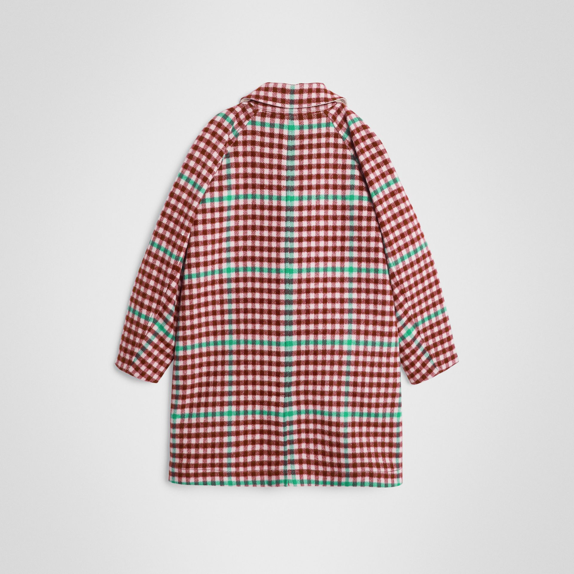 Paletot réversible en laine et coton à motif check (Rose Grenat) | Burberry - photo de la galerie 4