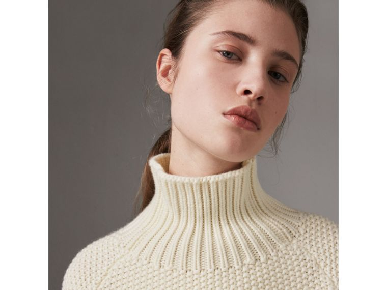 Cashmere Roll-neck Sweater in Natural White - Women | Burberry - cell image 1