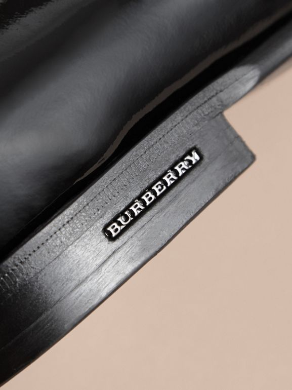 Tasselled Patent Leather Loafers in Black - Men | Burberry - cell image 1
