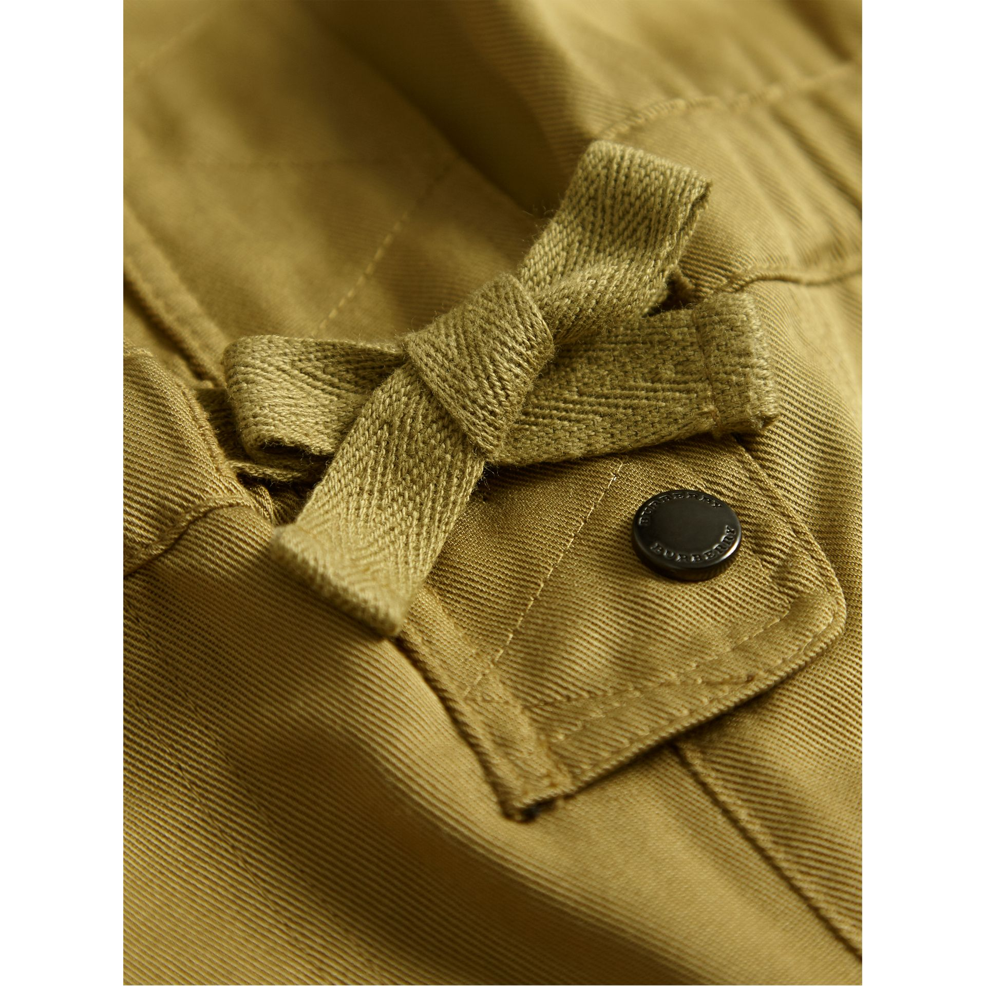 Drawcord Waist Lyocell Jumpsuit in Olive - Girl | Burberry - gallery image 2
