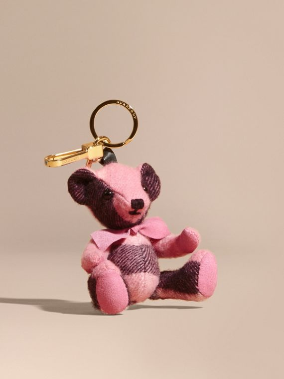 Thomas Bear Charm in Check Cashmere Rose Pink