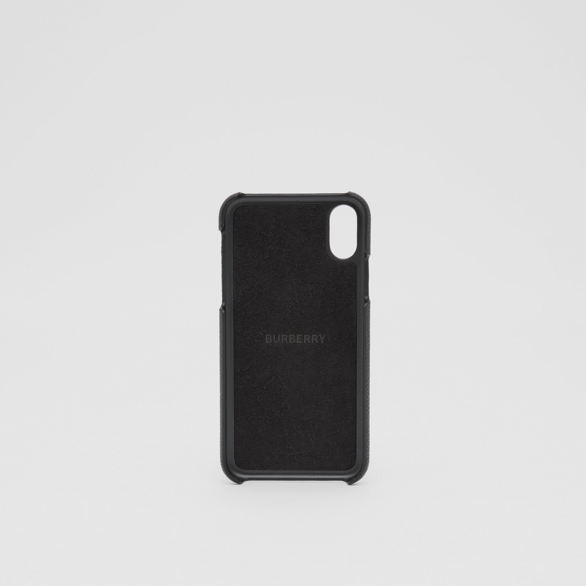 Contrast Logo Graphic Leather iPhone X/XS Case in Black | Burberry United Kingdom - gallery image 3