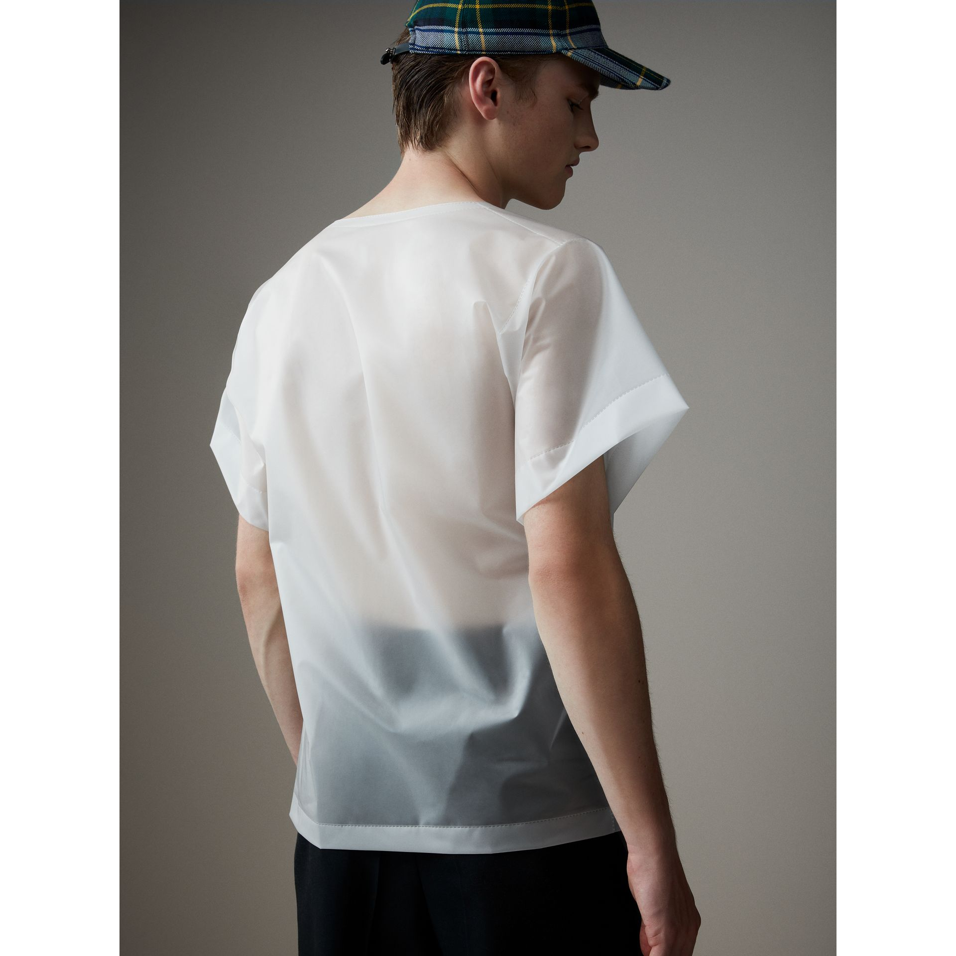 Soft-touch Plastic T-shirt in Transparent - Men | Burberry United States - gallery image 3