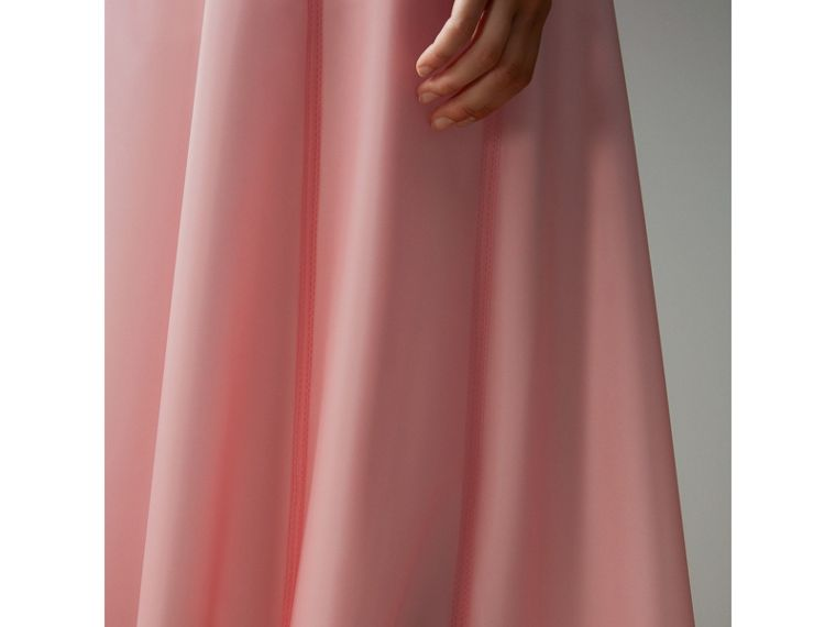 Silk-lined Plastic A-line Skirt in Rose Pink - Women | Burberry Singapore - cell image 4