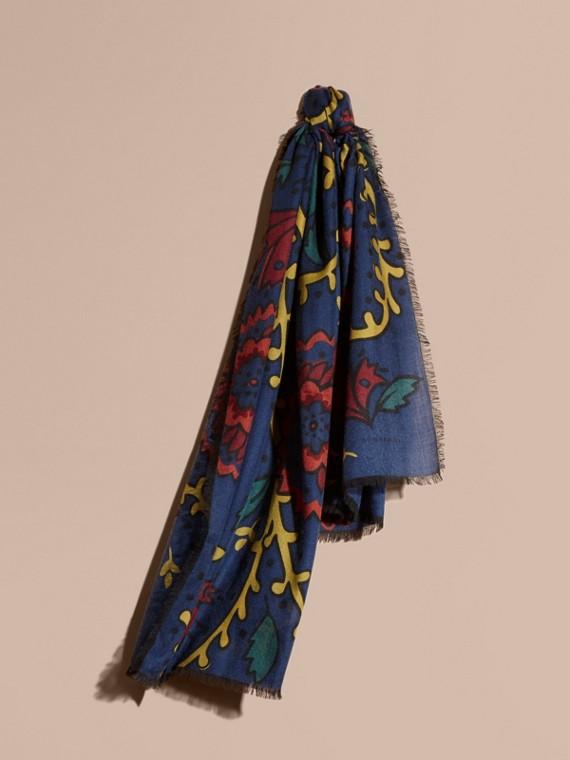 Kaschmirschal mit floralem Muster