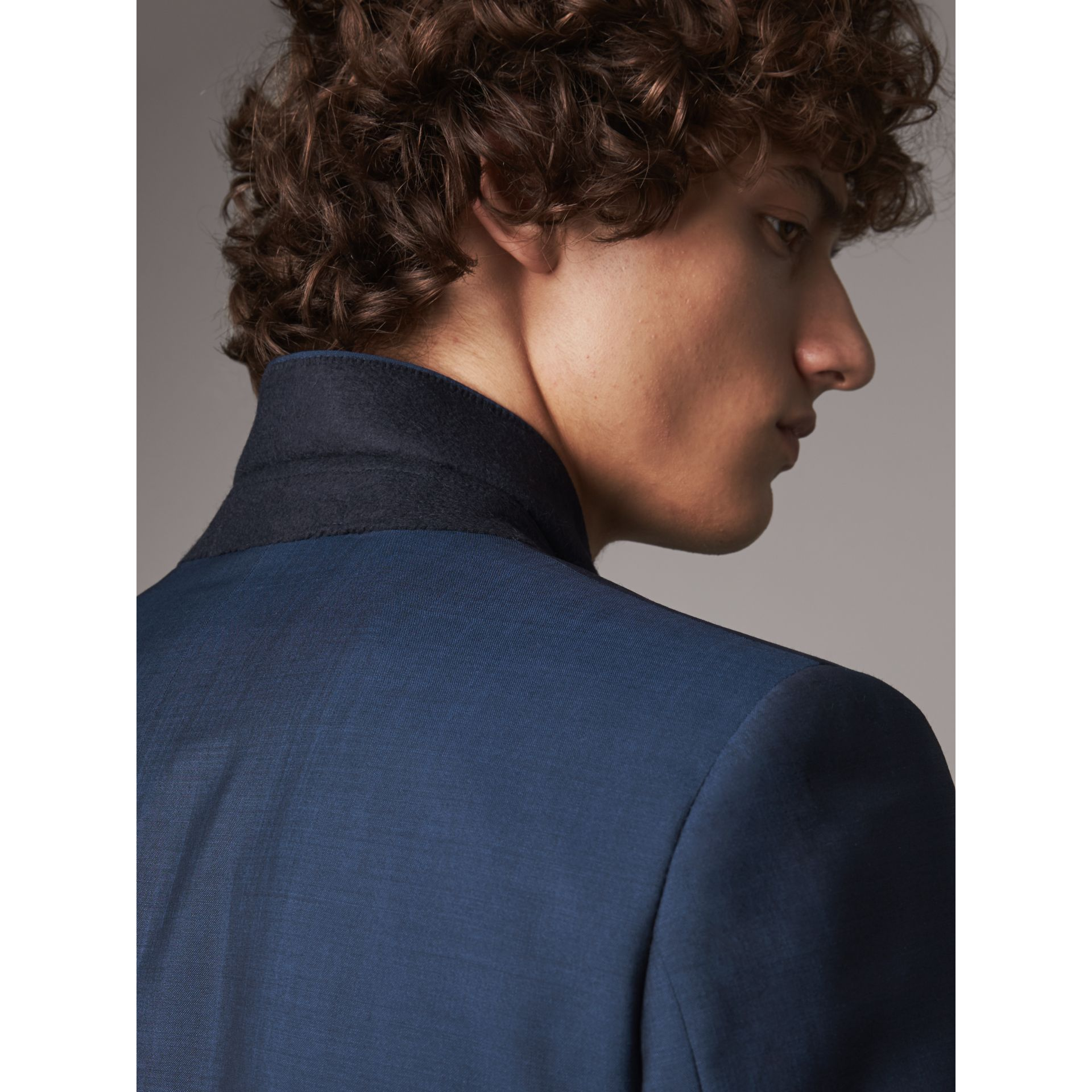 Soho Fit Wool Mohair Suit in Bright Navy - Men | Burberry - gallery image 4