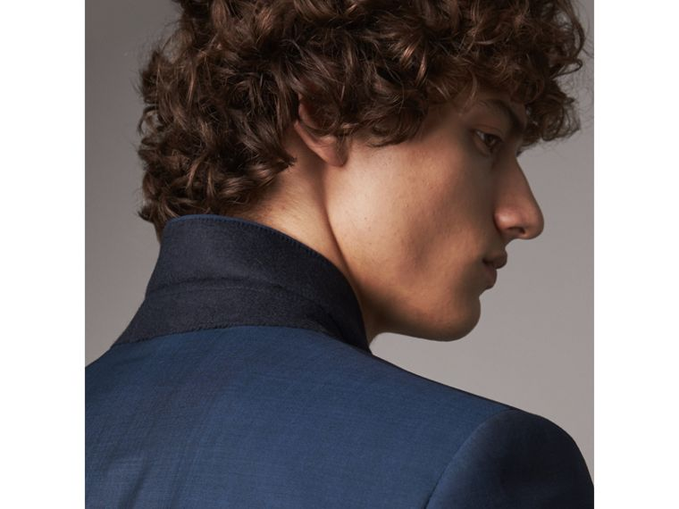 Soho Fit Wool Mohair Suit in Bright Navy - Men | Burberry - cell image 4