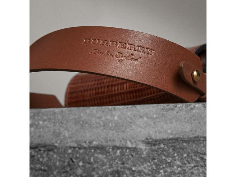 The Pocket Satchel in Lizard in Chestnut Brown - Women | Burberry Singapore - cell image 1